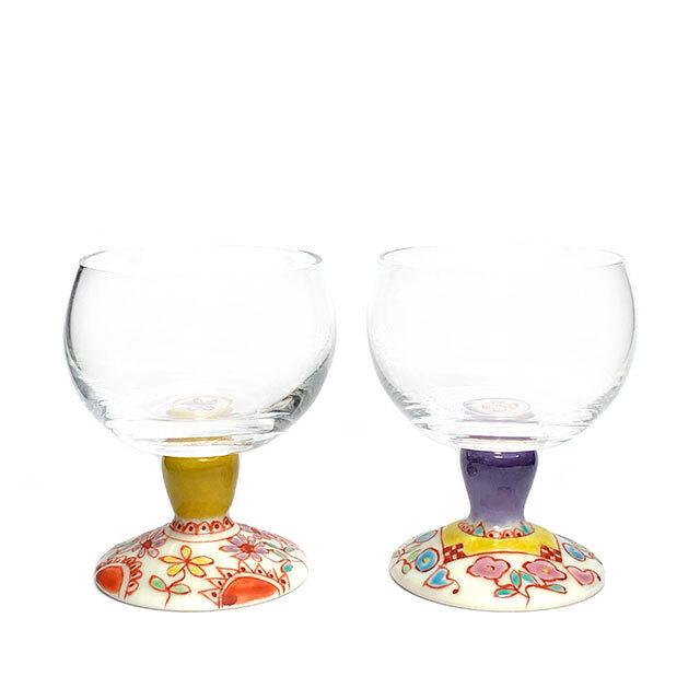 フラワー・フラワーハウス 馬上グラス 九谷和グラス