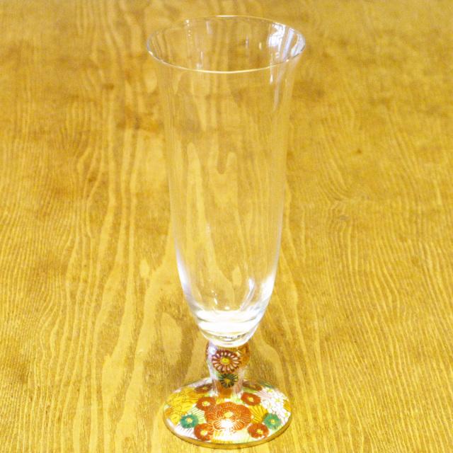 金花詰 九谷和グラス 麦酒グラス