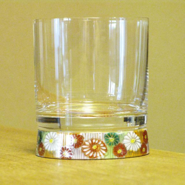 金花詰 ロックグラス 九谷和グラス