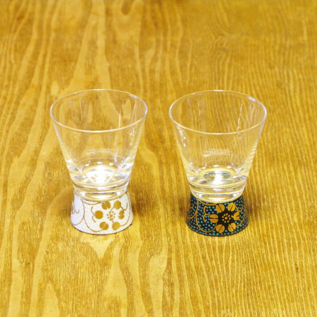 青粒鉄仙 白粒鉄仙 ショットグラス 九谷和グラス