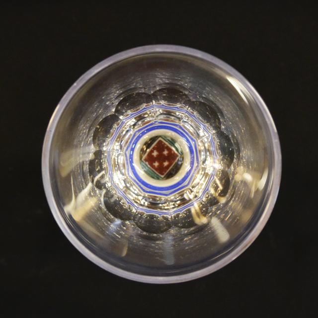 石畳(四角) 万華鏡ショットグラス(十面切子) 九谷和グラス
