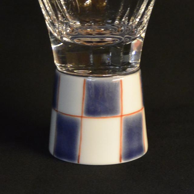 市松 万華鏡ショットグラス(十面切子) 九谷和グラス