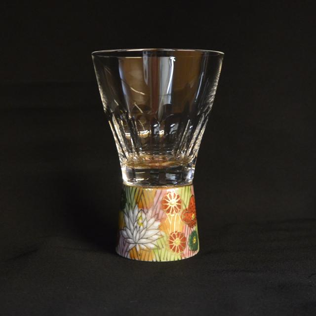 金花詰 万華鏡ショットグラス(十面切子) 九谷和グラス