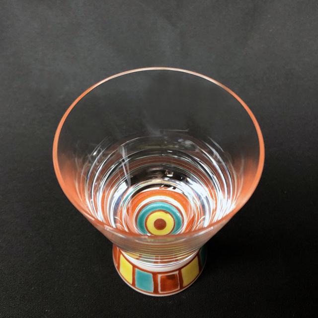 色絵十草(レッド) ショットグラス 九谷和グラス