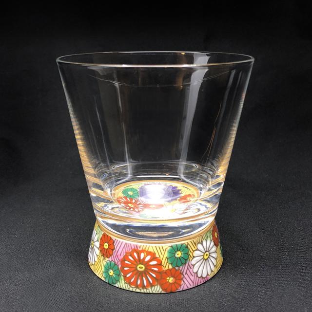 金花詰 Vグラス 九谷和グラス