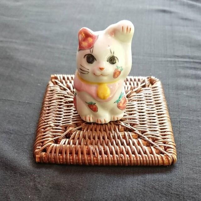 フルーツ招き猫(いちご)【鏑木オリジナル】