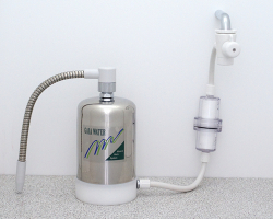 MIZUTOMO 卓上1WAY フィルター付 ミネラル浄水器 M-8AF1-ST
