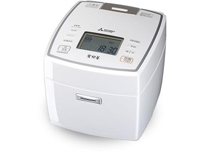 IHジャー炊飯器(1升炊き) 備長炭 炭炊釜 NJ-VV189-W