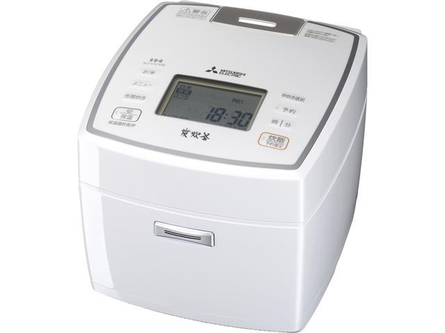 IHジャー炊飯器(5.5合炊き) 備長炭 炭炊釜 NJ-VV109-W