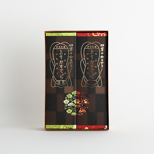 加賀のかがやき 上々かすてぃら 2箱入(プレーン・抹茶各1箱入)