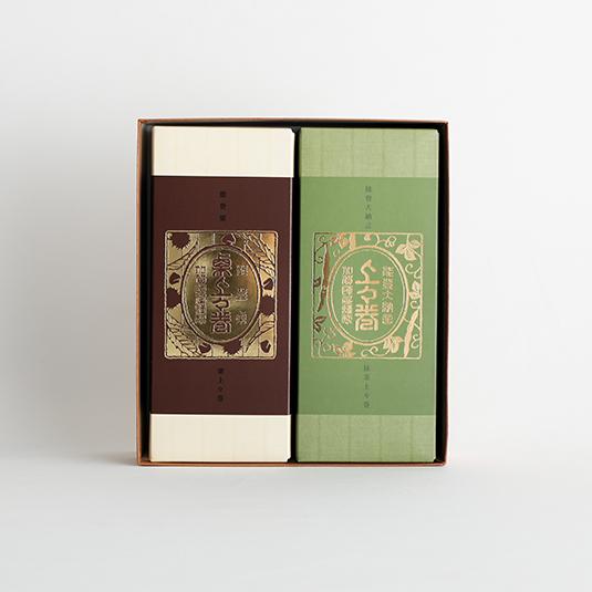 和菓子屋さんがつくったロールケーキ 能登大納言 上々巻 抹茶1箱・能登栗 栗上々巻1箱 詰合せ化粧箱入