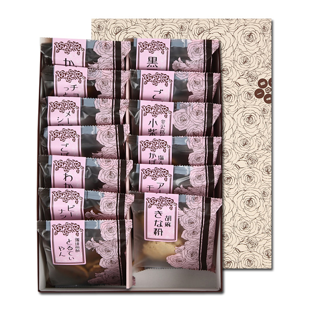 百通りのご縁「金沢百縁煎餅色々」 11袋入り箱包装