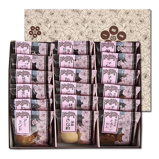 百通りのご縁「金沢煎餅餅色々」 15袋入り箱包装