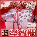 【送料無料】母の日 金沢煎餅詰合せ18種類18袋入り(手書きメッセージカード付き/ぷちカーネーション付き)