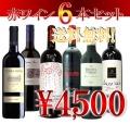 【第20弾】4ヶ国の赤ワインが6本 送料無料 セット!