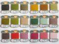 オリヅル 絹手縫い糸 40m巻 バラ(155~173番)
