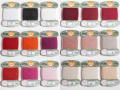 オリヅル 絹手縫い糸 40m巻 バラ(白~15番)