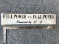 影竿「FULLPOWER vs FULLPOWER」ステッカー(黒)