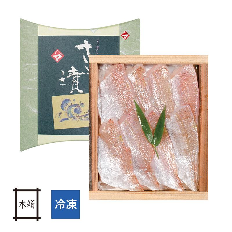 【冷凍】 小鯛の笹漬け (すずめ小鯛) 井桁木箱入り 1個 [_212003_]