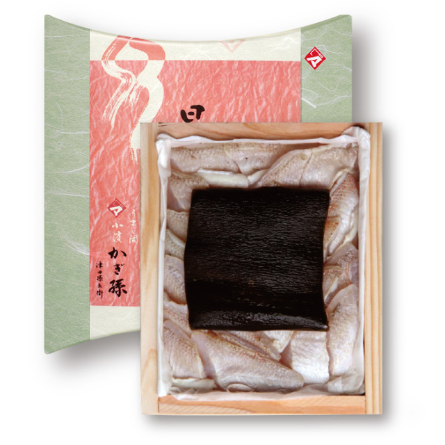 炙り仕立て・のどぐろの昆布締め 井桁木箱入り 1個 【高電圧凍結仕様】