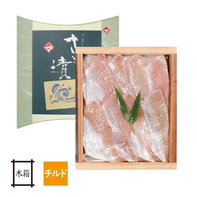 【チルド】 小鯛の笹漬け (すずめ小鯛) 井桁木箱入り 1個 [_112003_]