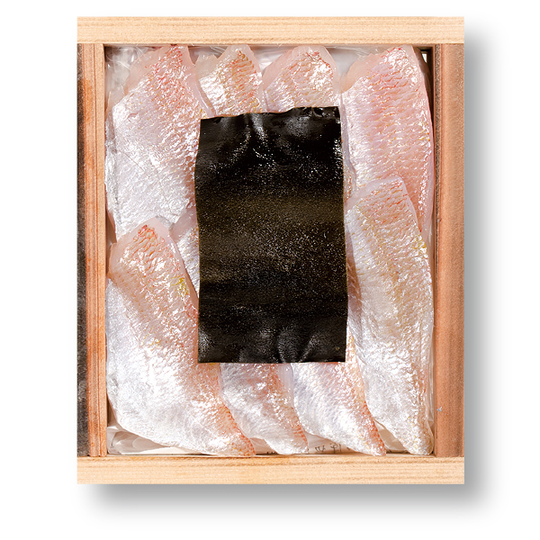 小鯛の昆布締め 井桁木箱入り 1個【高電圧凍結仕様】 [_212101_]