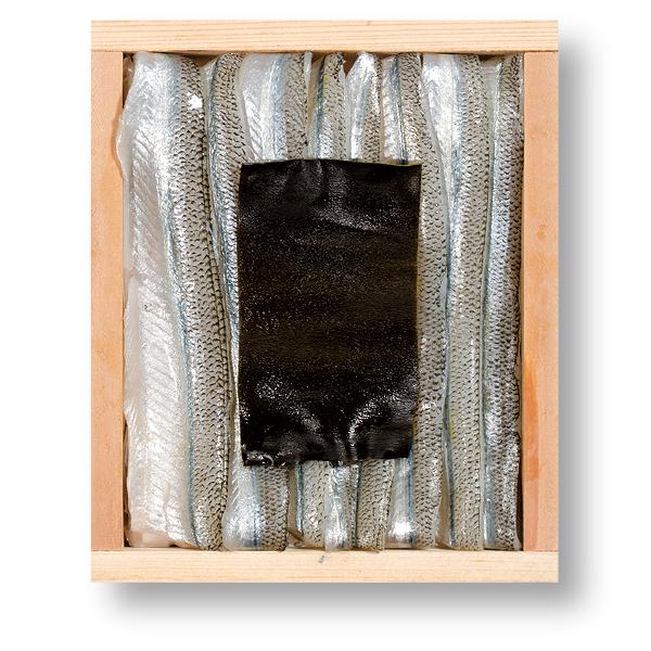 さよりの昆布締め 井桁木箱入り 1個 【高電圧凍結仕様】 [_212103_]