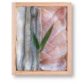 2種類の笹漬け詰め合わせ (小鯛・さより) 井桁木箱入り 1個【高電圧凍結仕様】[_212012_]