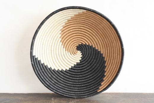 ルワンダ バスケット Kuramukanya -握手/茶-