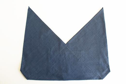 会津木綿 あずま袋 L (ブルー)
