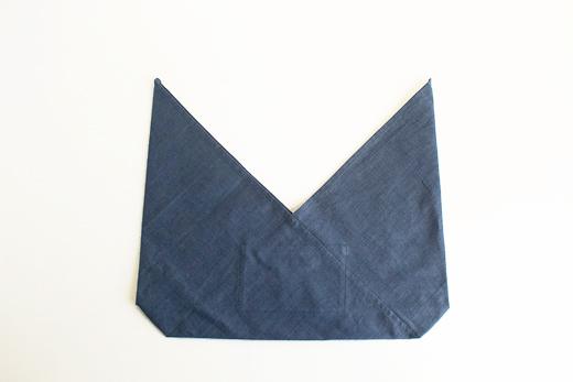 会津木綿 あずま袋 S (ブルー)