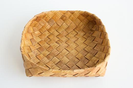 ラトビア 白樺 パンかご (L)