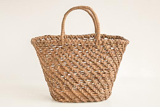 長野 やまぶどう ななめ編み