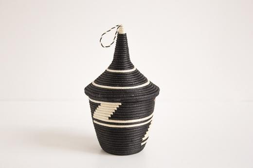 ルワンダ バスケット アガセチェ (黒)