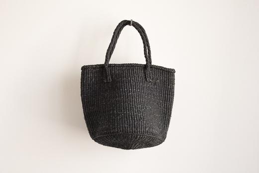 ケニア サイザルバッグ S (ブラック)