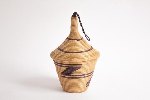 ルワンダ バスケット アガセチェ (茶)