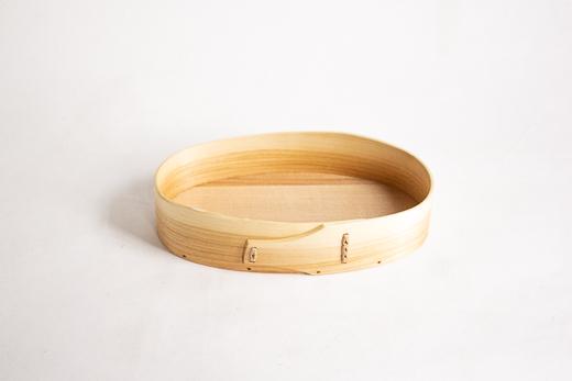 スウェーデン 曲げ木のトレイ (オーバル XS)