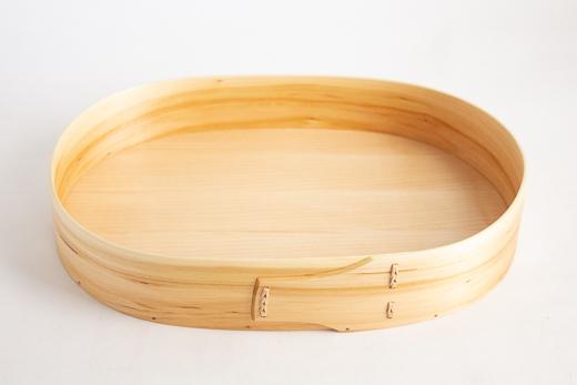 スウェーデン 曲げ木のトレイ (オーバル L)
