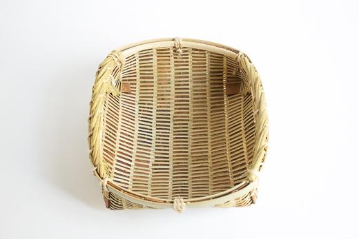 宮城 篠竹と桜 平かご