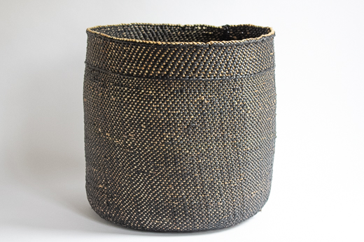 タンザニア イリンガバスケット 深かご XL (ネイビー)