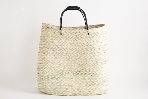 モロッコ yasmina basket L (ブラック)