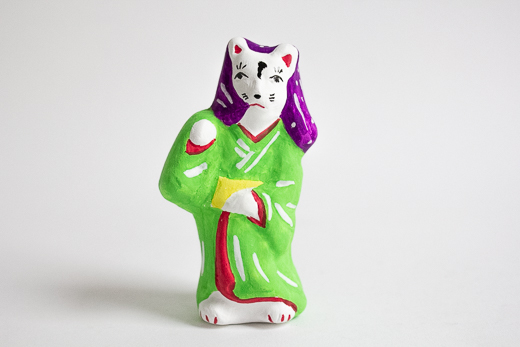 青森 高谷下川原焼土人形 妖怪シリーズ「化け猫」 (MUTO)