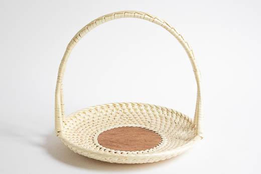 ラトビア 結び編み ハンドル付き 21cm