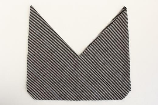 会津木綿 あずま袋 L (ピン縞)