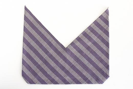 会津木綿 あずま袋 L (あけび縞)