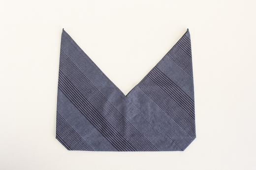 会津木綿 あずま袋 S (流れ縞)