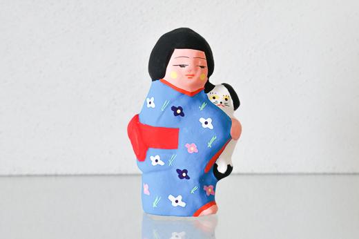 福島 中湯川人形 犬抱き娘 (MUTO)