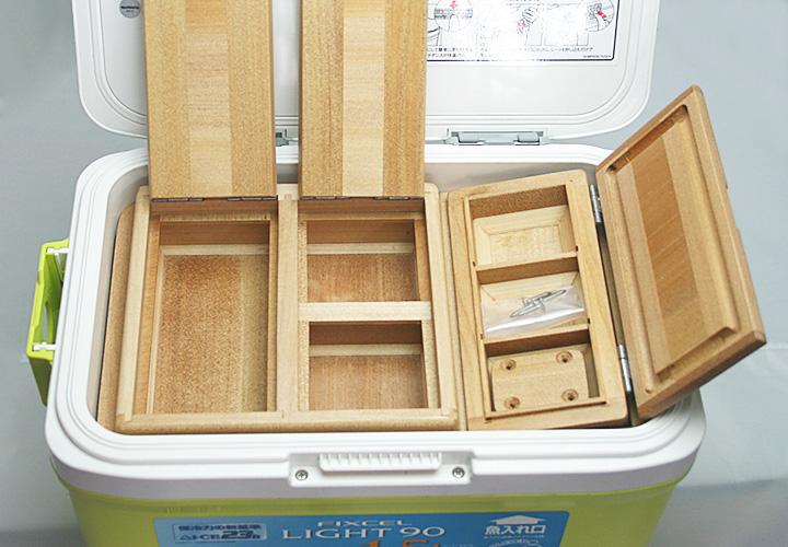 フィクセル9Lクーラー用エサ箱セット50篭定別注