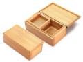 篭定木製2室エサ箱(石粉用皿付)