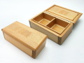 篭定木製2室エサ箱